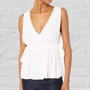 BCBG MaxAzria flowy white blouse